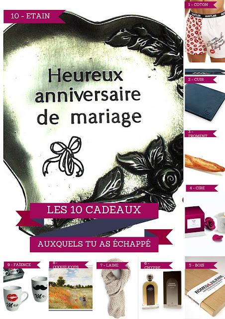 10 idées cadeaux kitsch pour 10 ans de mariage selon les noces correspondantes