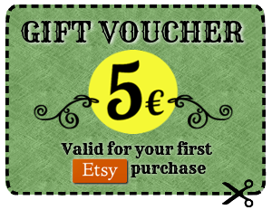 5€ gift voucher for your first Etsy purchase