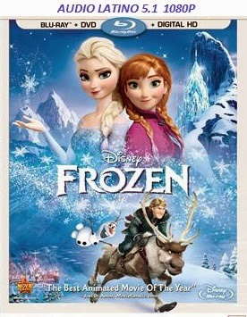 cover del bluray de frozen 1080p HD