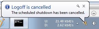 Abort Shutdown