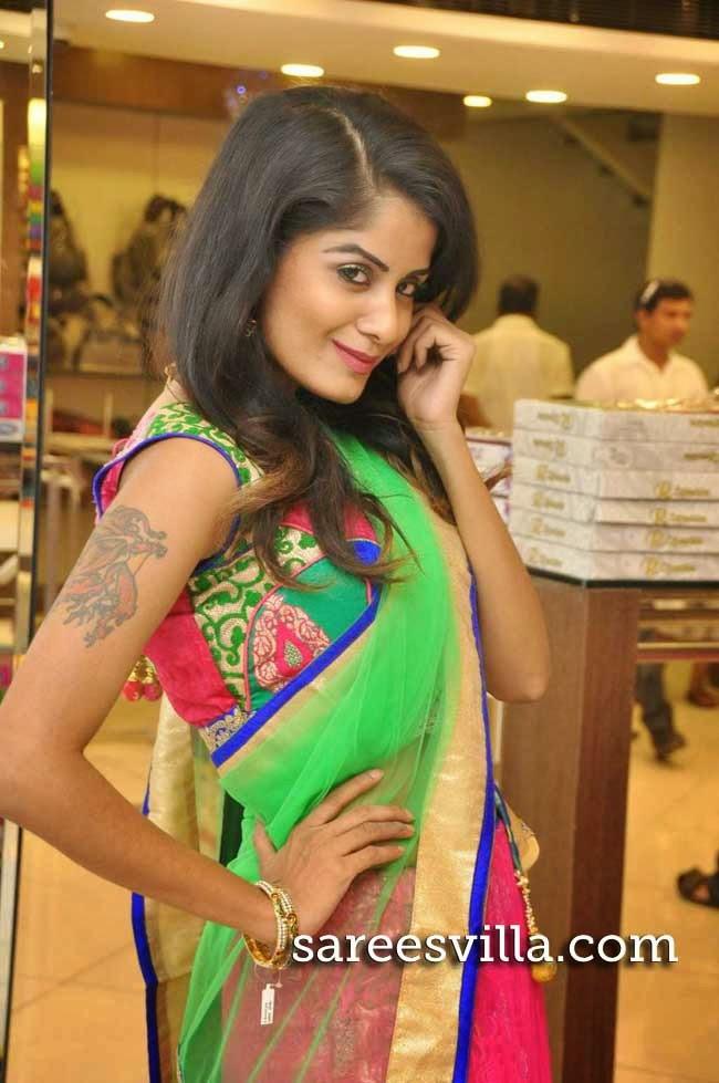Anukriti in Designer Half Saree
