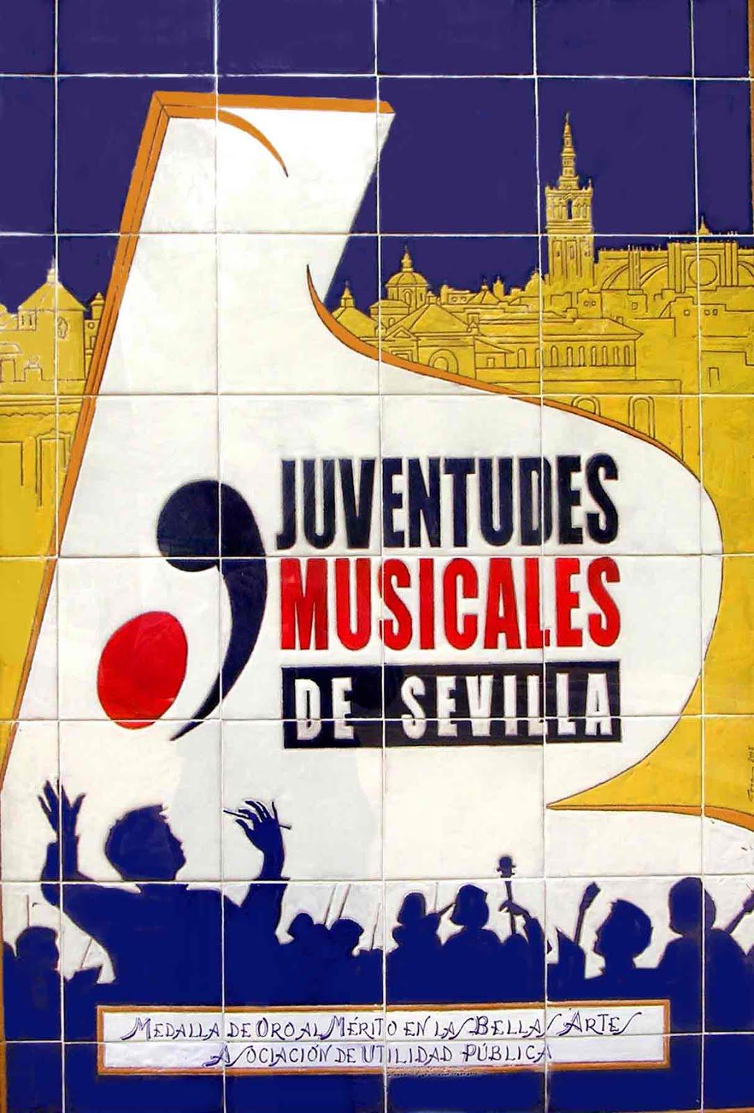 Cartel cerámico de Juventudes Musicales