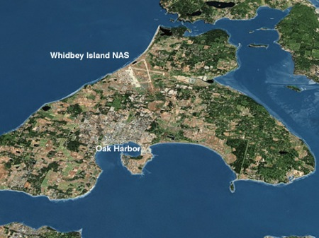 The major base is called NAS Whidbey Island. There is a small ...