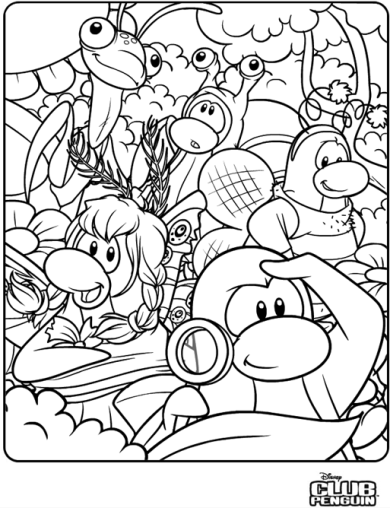 Free Coloring Pages Etyho: Disney Club Penguins Coloring Pages