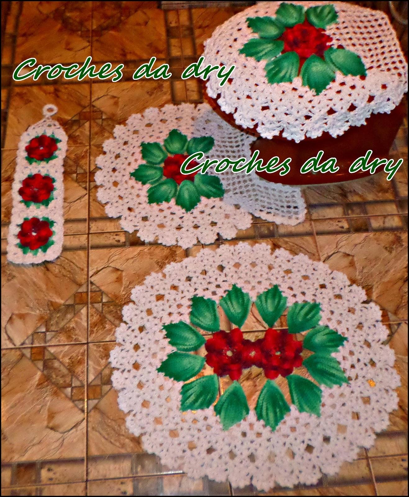 Jogo De Banheiro Verde E Branco : Croches da dry jogo de banheiro harmonia bordo verde branco