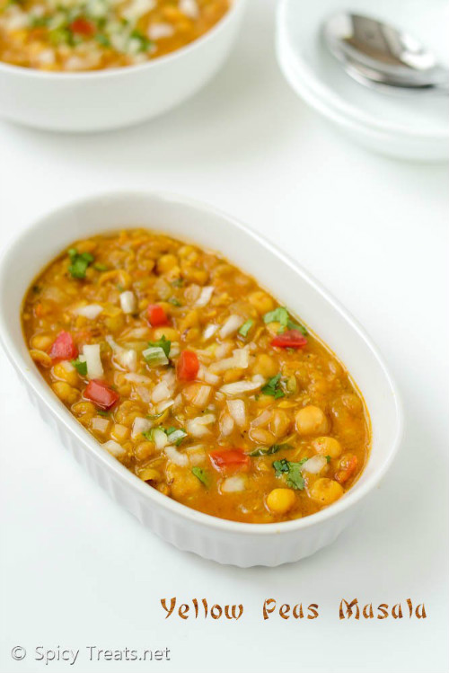 Yellow Peas Masala Recipe