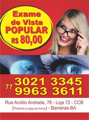 ÓTICA EXACT - EXAME DE VISTA COM PREÇO POPULAR