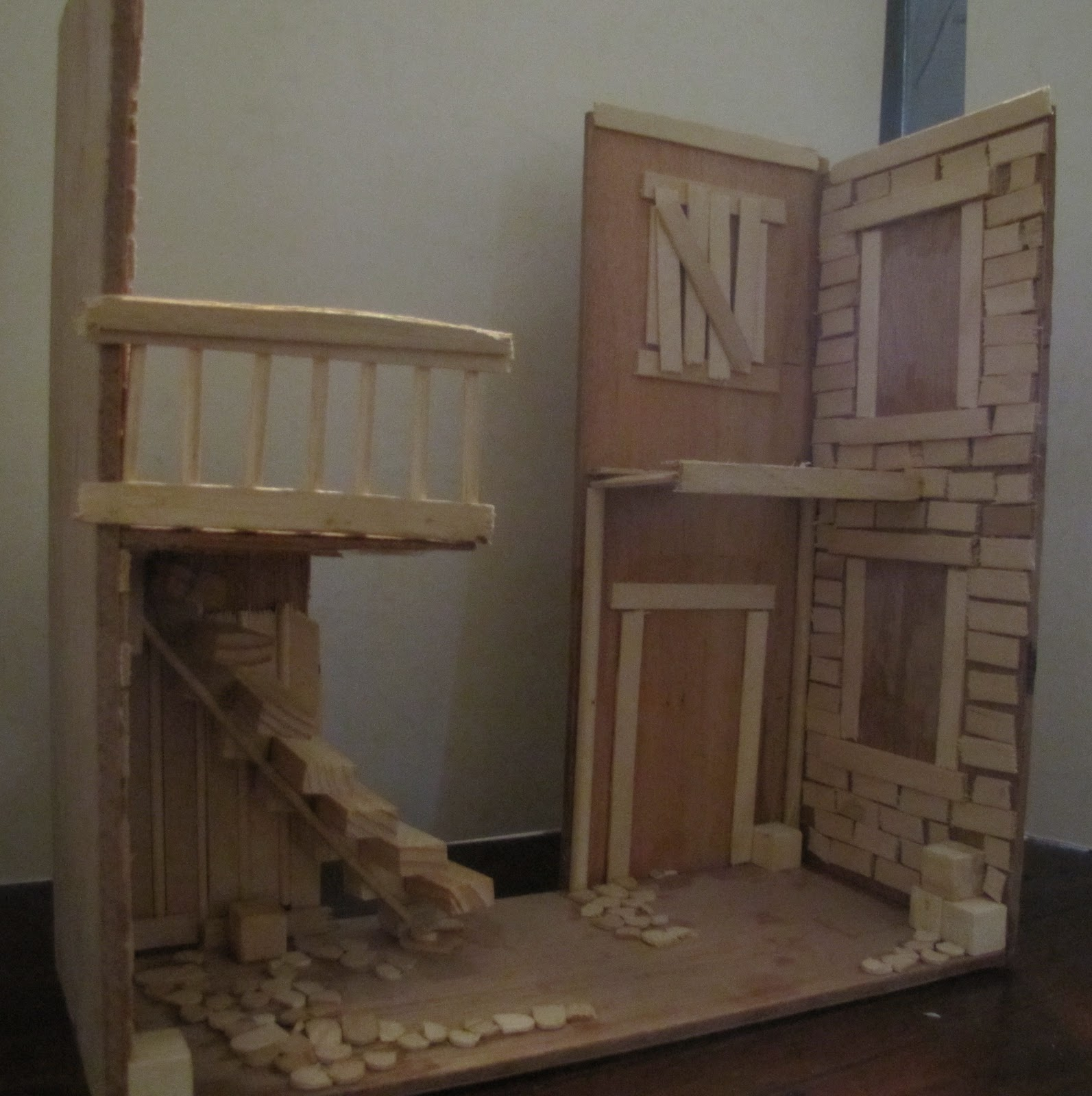 Any How Town Building A Street Scene Popsicle Stick Process