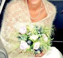 Deze bruid had het niet koud.