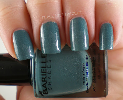 Barielle, Blue Cotton Candy, frosted, silver shimmer, sea blue