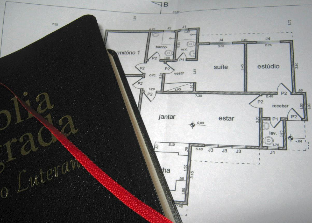 """""""Se o Senhor Deus não  edificar a casa, não adianta nada trabalhar para construí-la."""" (foto: Jean Tosetto)"""