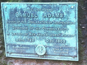 Samuel Adams - Granary Burying Ground - Boston