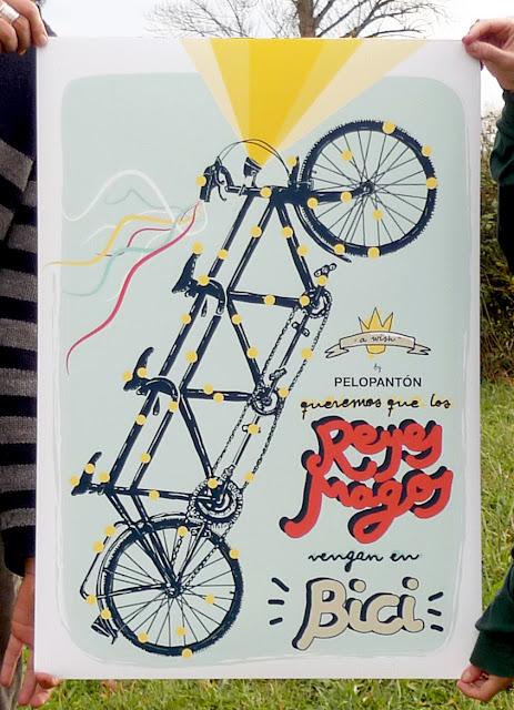 Cartel Reyes Magos Bicicleta