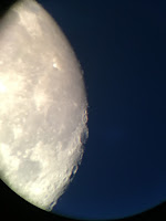 moon with iphone through 6mm eyepiece