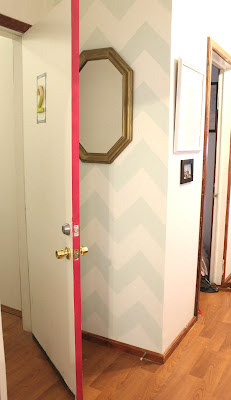 pintar laterais da porta de outra cor colorido