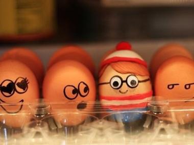 Великденски яйца с личица