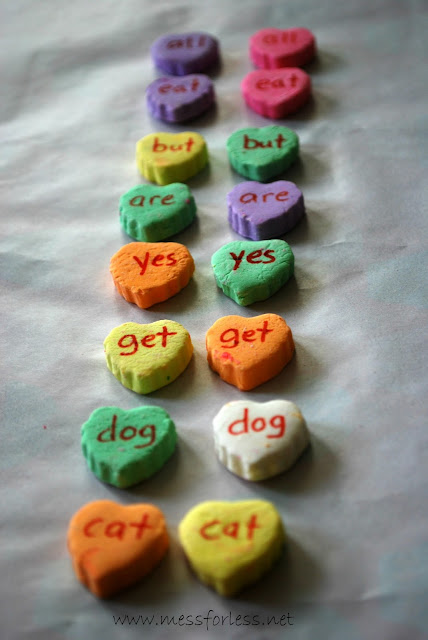 Conversation Hearts Candy Matching Game