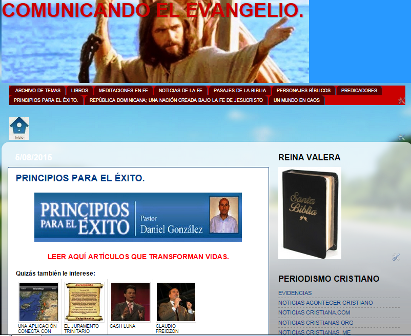 """""""COMUNICANDO EL EVANGELIO"""": Nuestro blog de crecimiento espiritual"""