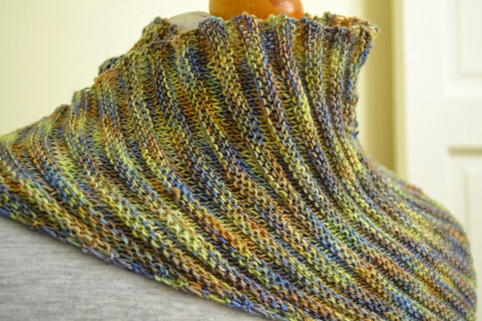 Decrease Knitting Garter Stitch : Knitting Novice: Cartridge Rib Stitch Baktus - Project Instructions