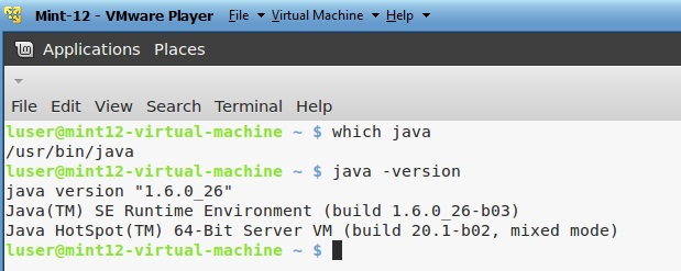 Check Java version and Path in Linux Mint