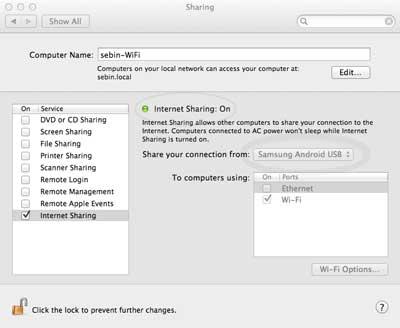 Create A WiFi Hotspot In Mac OS X Internet