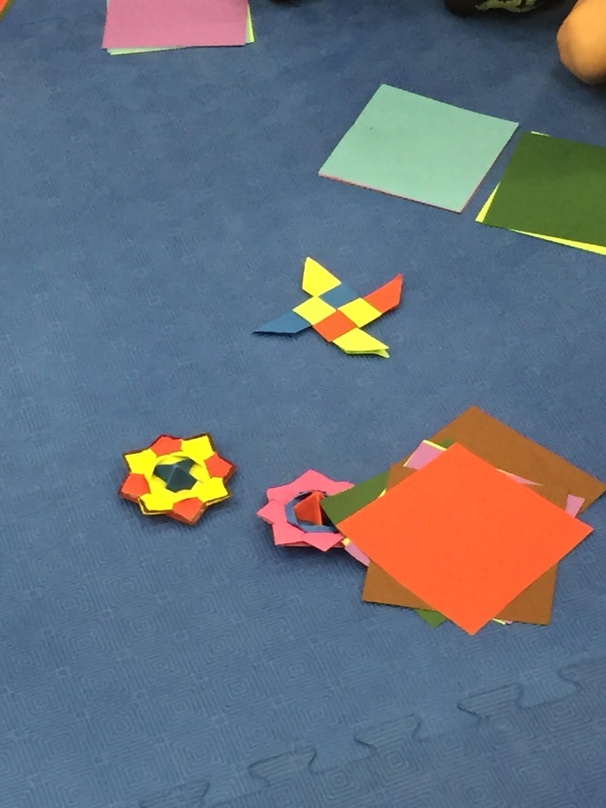 Truptis craft july 2015 this time kids learned to make ninja star and spinning top toy jeuxipadfo Images