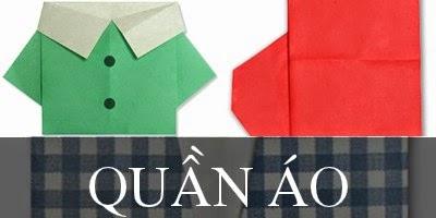 Gấp giấy Origami hình Quần Áo