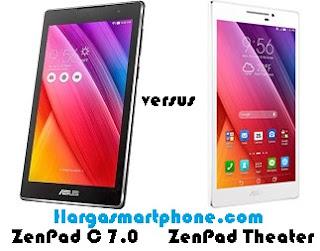 Harga dan Perbedaan Asus ZenPad C 7.0 dengan ZenPad Theater
