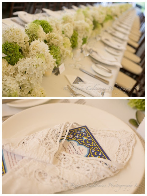 menu card and lace