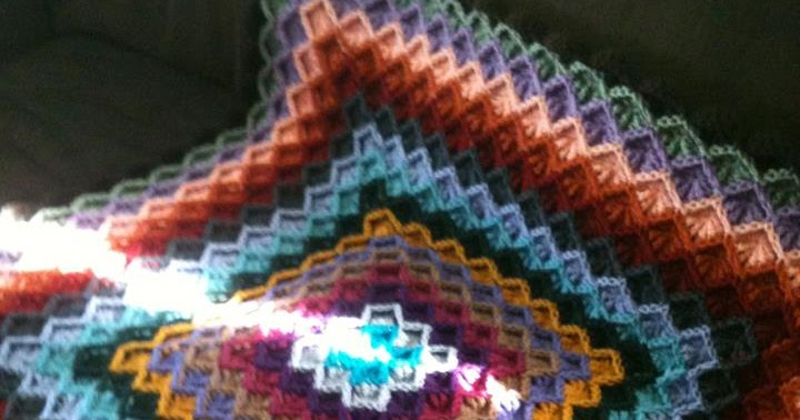 Free Crochet Afghan Patterns For Young Adults : Bizzy Crochet: Catherines Wheel Afghan