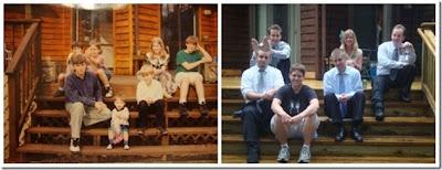 Foto da família antes e depois