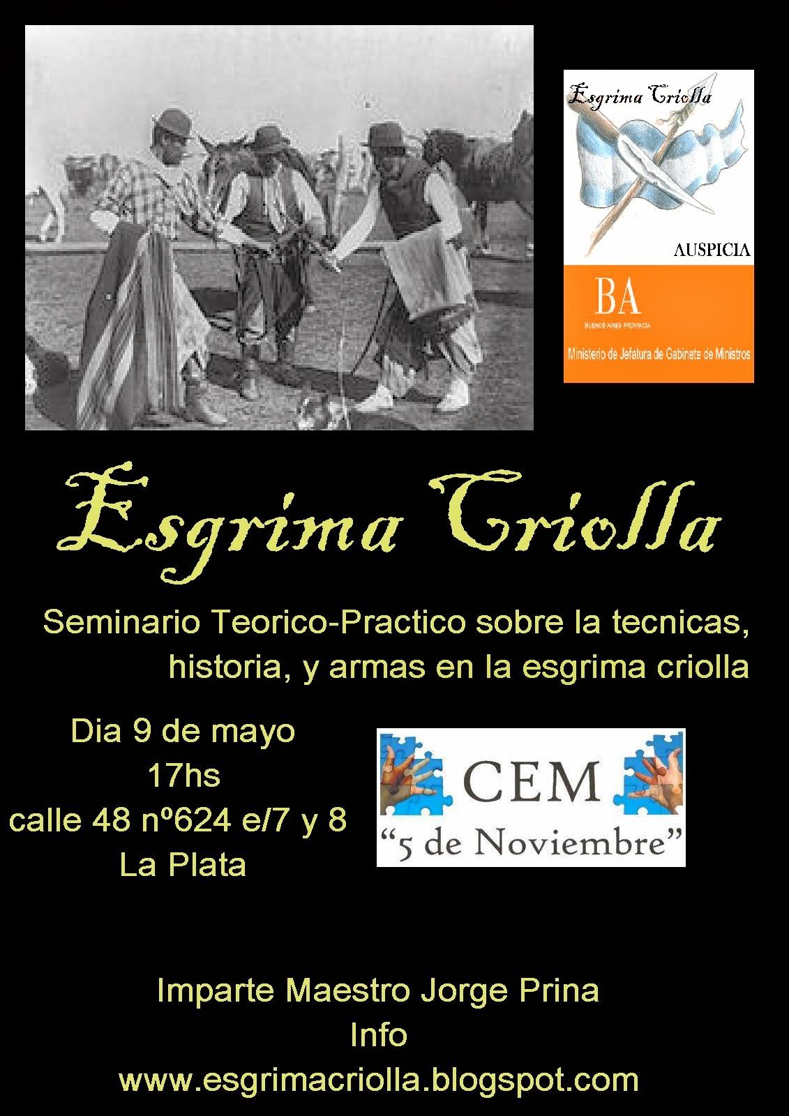 Seminario Esgrima Criolla (09-05-2014)
