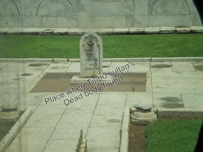 Tippu Sultans dead body - Srirangapatna mysore