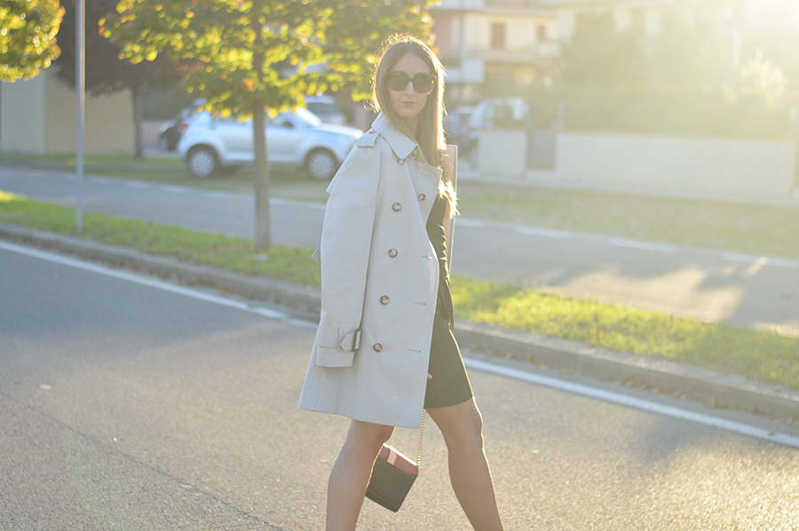 Trenchcoat, Burberry Outfit, Burberry Fashionblogger, Zara, Zara Dress, Givenchy Obsedia, Givenchy Bag, Burberry Outfit, Fashion Blogger, Top Italian Fashion Blogger