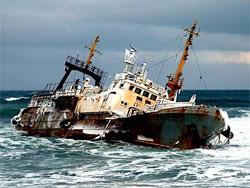 японский корабль-призрак у берегов канады