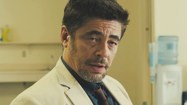 Benicio Del Toro isn't messing around as a ruthless hit man