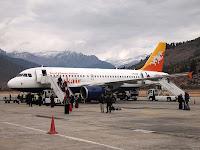 Drukair Airbus - Paro, Bhutan