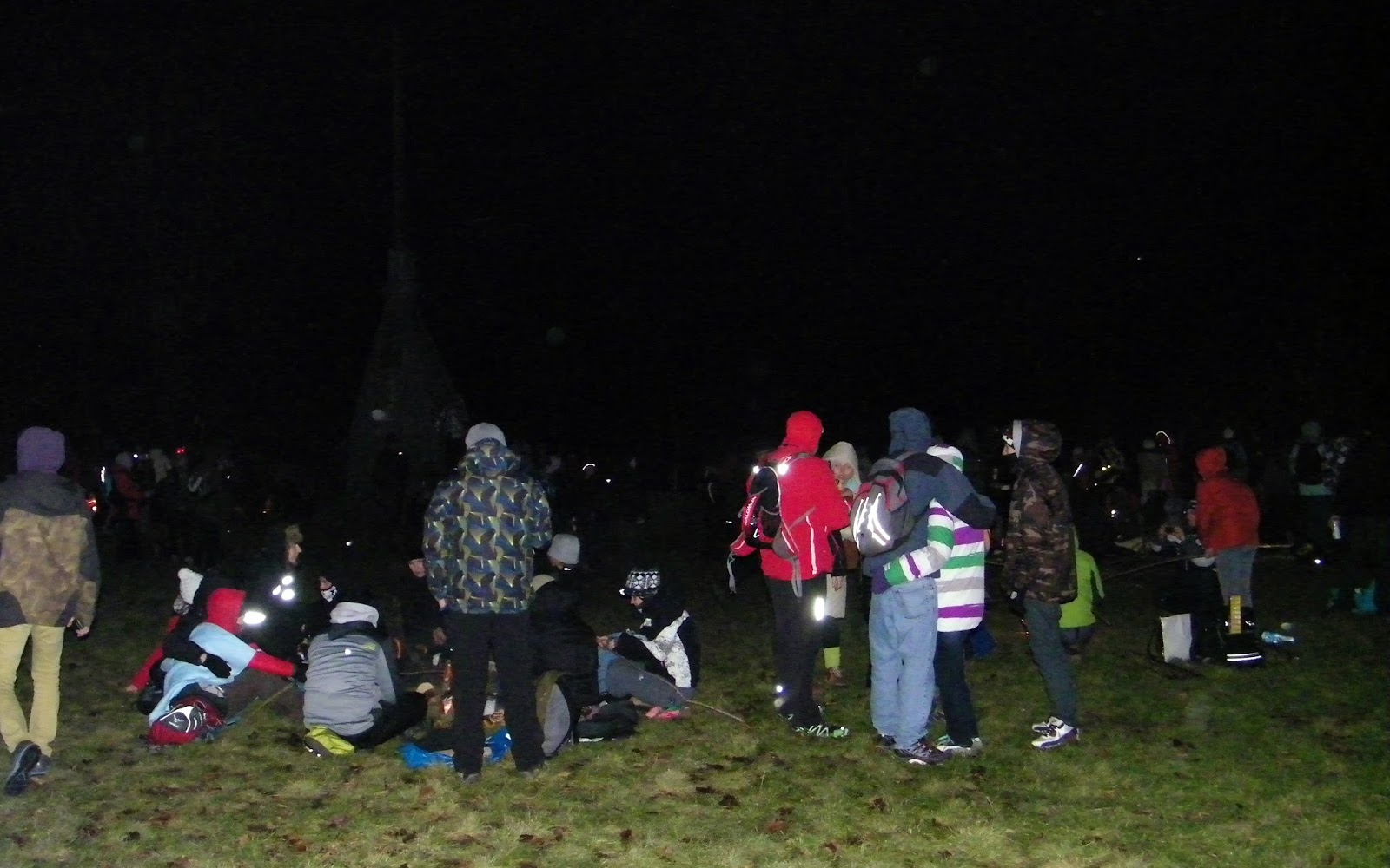 Tłum na Ślęży Sylwester 2013