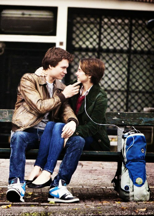 The fault in our stars hazel and gus kiss