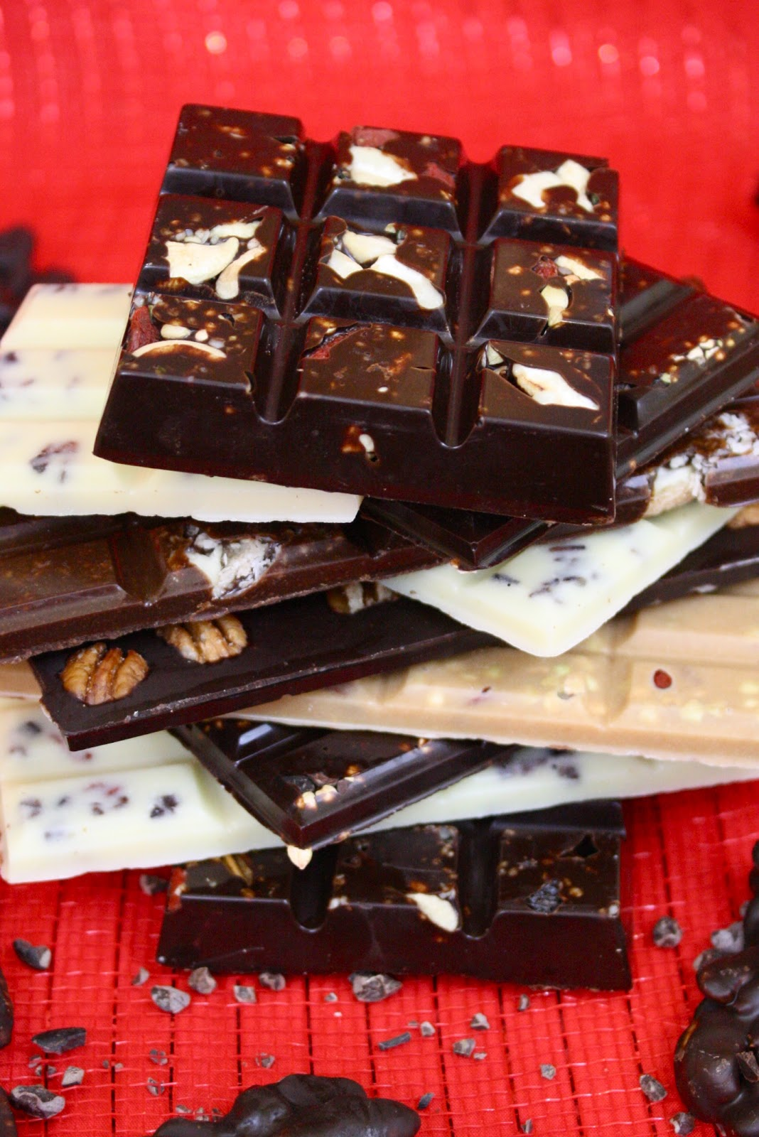 Learn how to make raw chocolate bars!