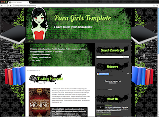 Zombie Girl Blogger Template