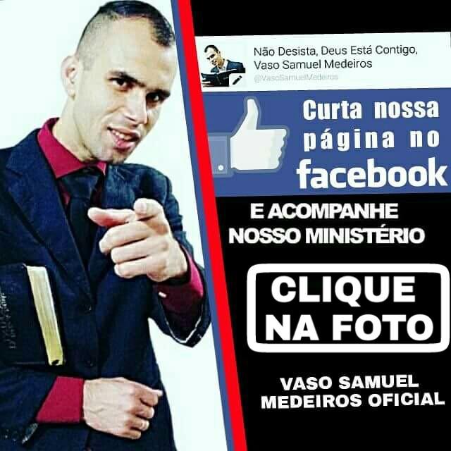 Clique na foto e Curta nossa PÁGINA NO FACEBOOK, MENSAGENS DE DEUS PRA VOCê...OBRIGADO..