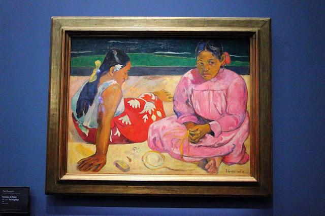 "Quadro ""Due donne tahitiane"" di Paul Gauguin al museo d'Orsay a Parigi"
