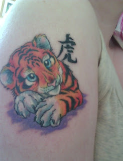 tatto Tiger cub design