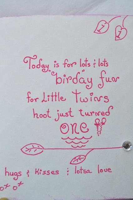TWINS 1rst BIRTHDAY CARDS – Twin Birthday Cards