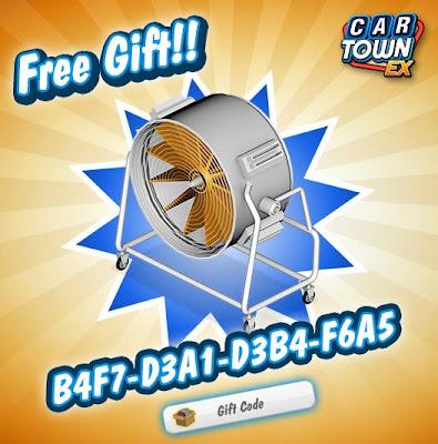 Car Town EX Free Gift Blower fan