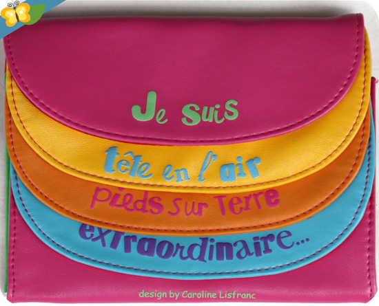 Ma pochette multicolore survitaminée designed by Caroline Lisfranc