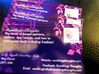 Ramblings Thoughts, Vista Print, Review, Video, Business, Cards,