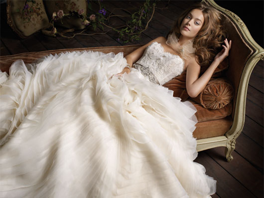 Beautiful wedding dresses by Lazaro for collection 2011