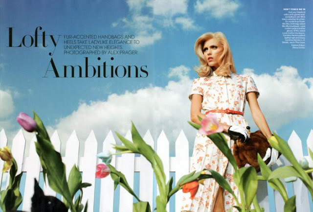 Editorial, photoshoot, Lofty Ambitions, Anja Rubik, Anja Rubik modelo, Anja Rubik model, Vogue US, Vogue USA,